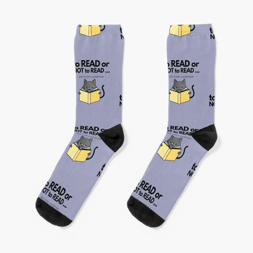 To Read or Not to Read Black Cat Socks