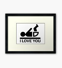 baby funny flirt hipster cool modern creative gifts and t shirts Framed Print