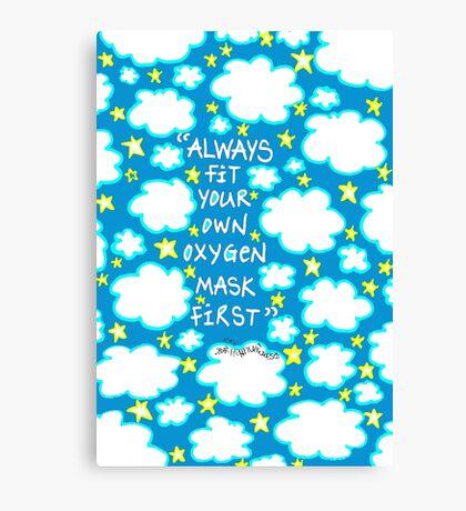 Oxygen Mask Canvas Print