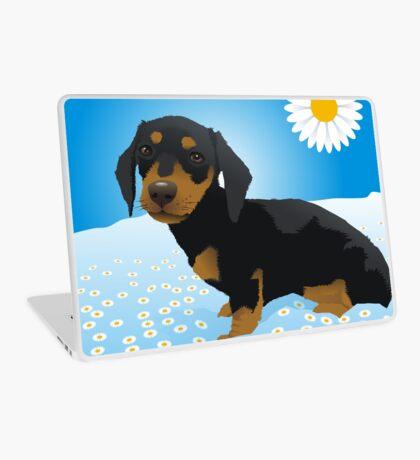 Daisy dachshund Laptop Skin