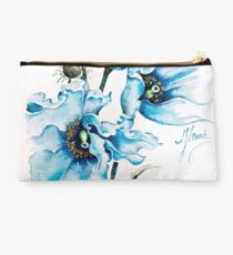"""""""Blue Wind"""" from the series """"Blossoming Planet"""" Studio Pouch"""