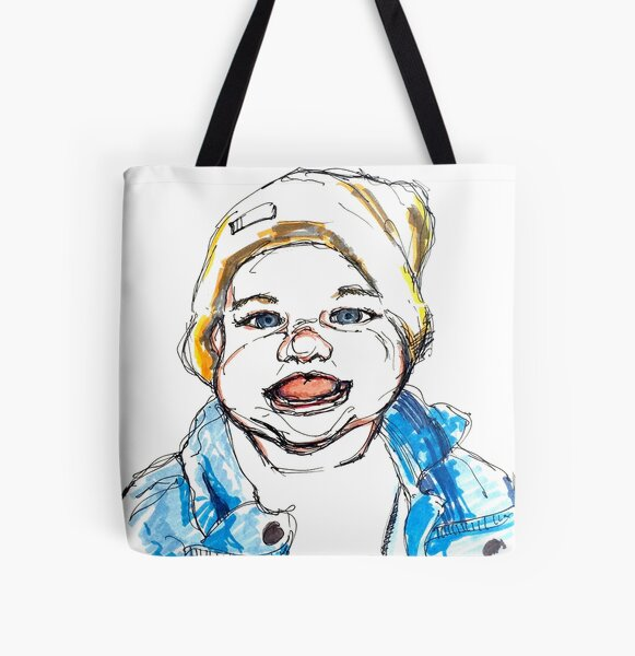 Baby All Over Print Tote Bag