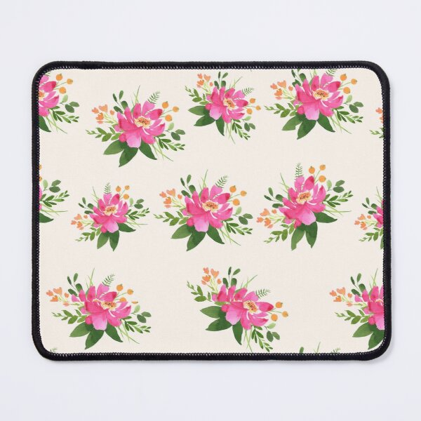 Pink Flower on Light Background Mouse Pad