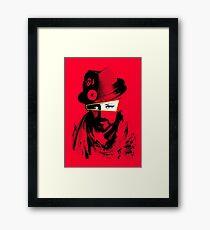 Boy George - Red Framed Print