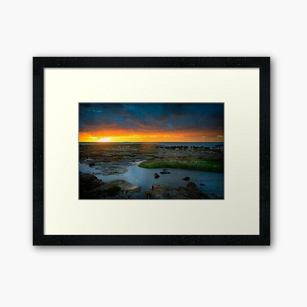 Ricketts Point Sunset Framed Art Print