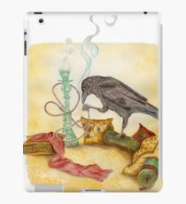 Crow with Hookah iPad Case/Skin