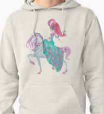 Fairy Tale Princess and Horse Pullover Hoodie