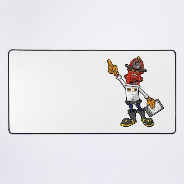 Fire Chief In Command - Hero Hydrants Desk Mat