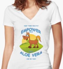 Empower your horse with Aloe Vera Women's Fitted V-Neck T-Shirt