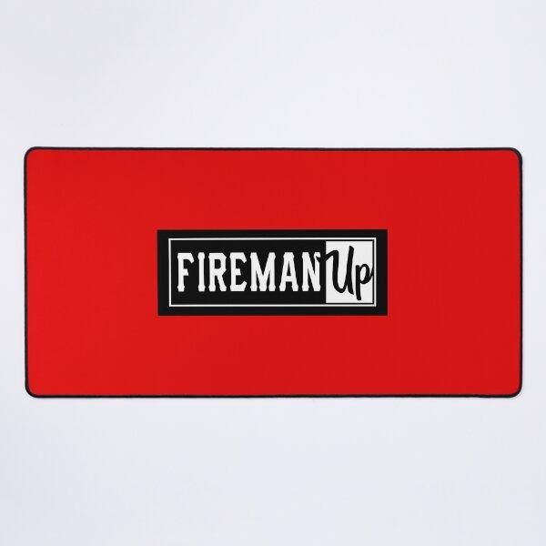 Fireman Up Square Logo Desk Mat
