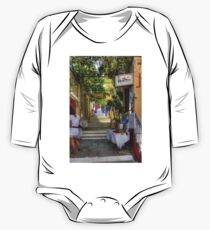 Symi Alleyway Steps One Piece - Long Sleeve