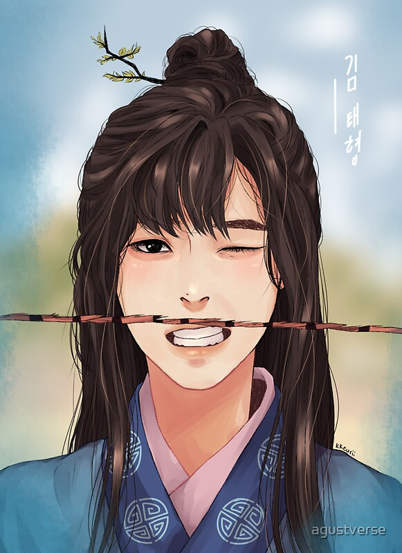 Quot Hwarang Kim Taehyung Quot Stickers By Agustverse Redbubble