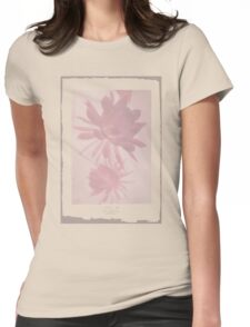 Negative Flower Womens Fitted T-Shirt