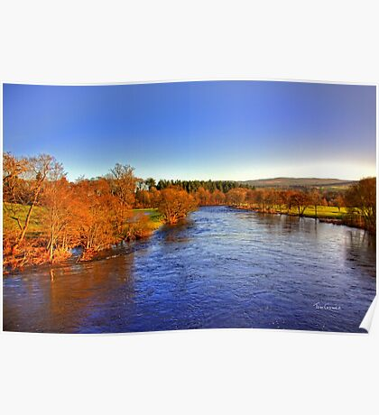 River Tay at Aberfeldy Poster