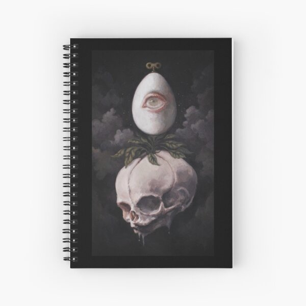 Sprout dark surreal painting Spiral Notebook
