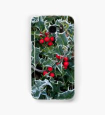 Frost on Holly Hedge Samsung Galaxy Case/Skin