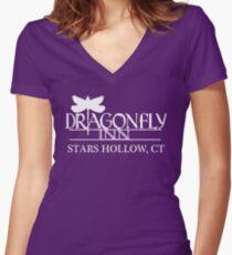 Gilmore Girls – Dragonfly Inn Women's Fitted V-Neck T-Shirt