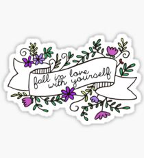 fall in love with yourself Sticker