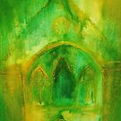 Valle Crucis Abbey (yellow & green) by Martin Williamson (©cobbybrook)
