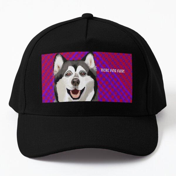 Fun-Loving Husky Baseball Cap