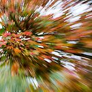 Leaf Abstract 3 by Rebecca Cozart