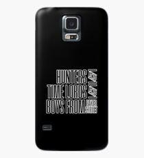 Super.Who.Lock (white on black version) Case/Skin for Samsung Galaxy