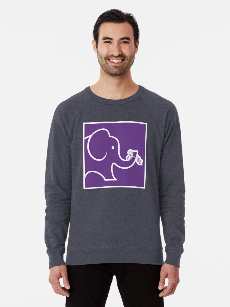 9b2b8043777 'Alzheimer's Disease Elephant' Lightweight Sweatshirt by LazaD