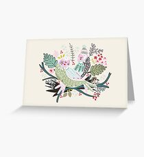 Holiday Birds Love Greeting Card