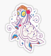 Lapras Popmuerto | Pokemon & Day of The Dead Mashup Sticker