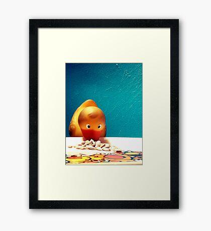 Breakfast for Felix Framed Print