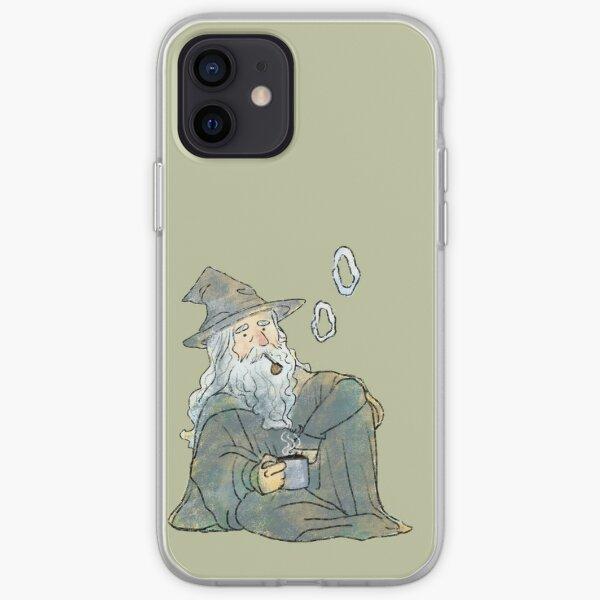 Magical old man smoking iPhone Soft Case