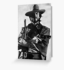 Clint Eastwood Greeting Card