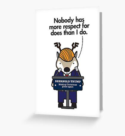 Deernold Trump Greeting Card