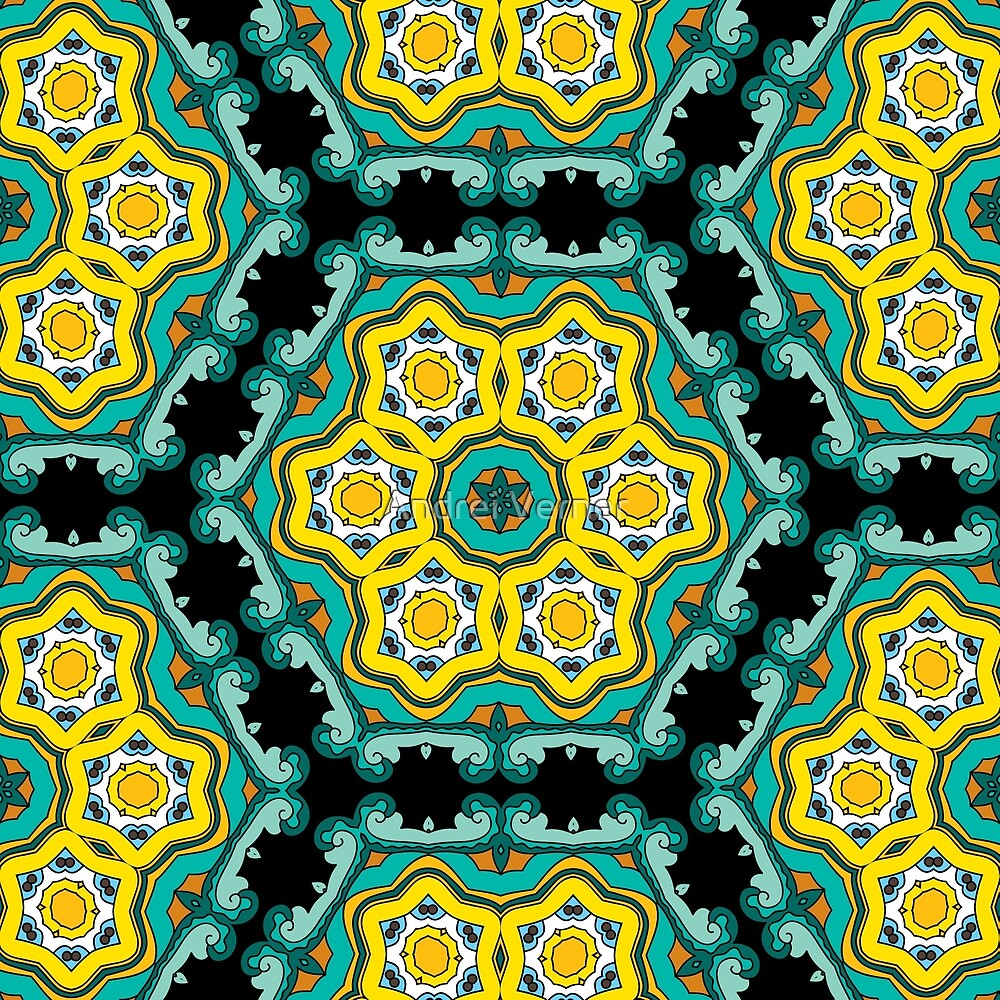 Psychedelic jungle kaleidoscope ornament 2\
