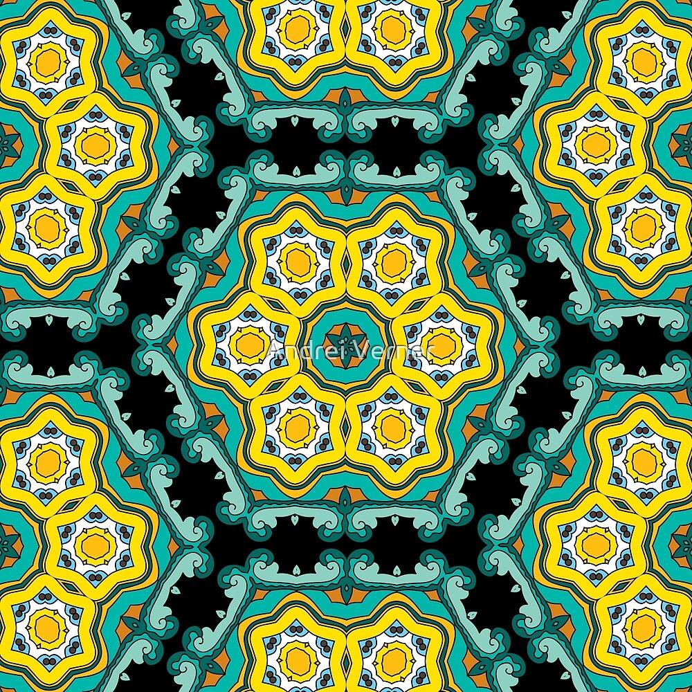 Psychedelic jungle kaleidoscope ornament 2\