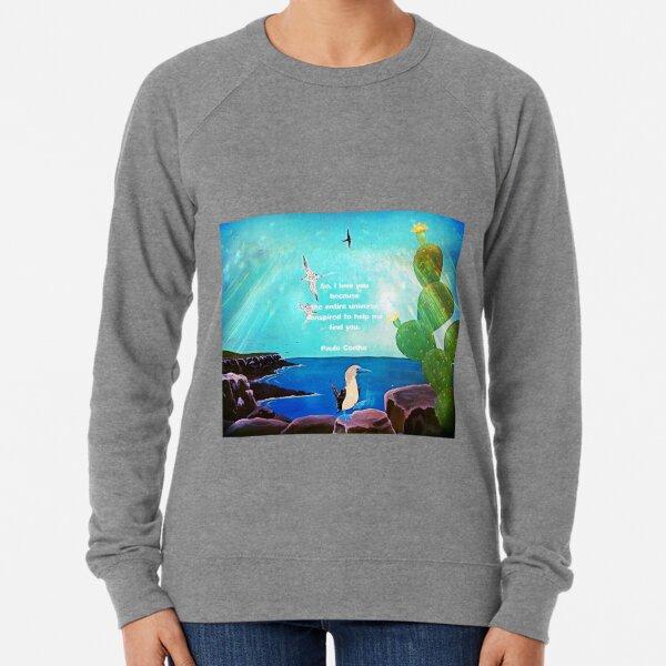 I LOVE YOU Inspirational Quote  Lightweight Sweatshirt