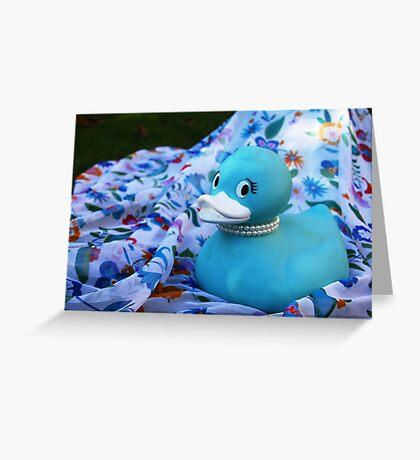 Tiffany Duck Greeting Card