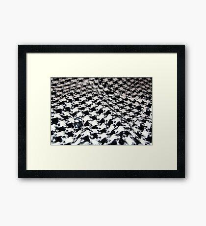Duck on Black + White Framed Print