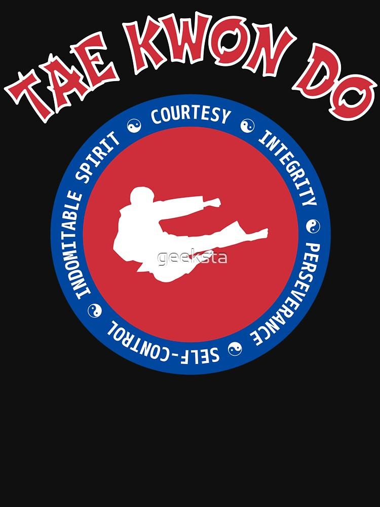 TAE KWON DO - 5 Tenets of Taekwondo Circular Design by geeksta