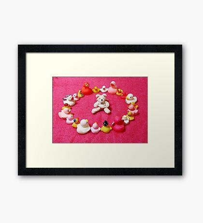 Angel Bear in Duck Blessing Circle Framed Print