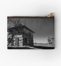 Old House and Grain Elevator on the Prairie Studio Pouch