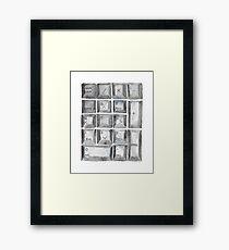 Watercolor Number Pad Framed Print