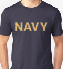 Distressed NAVY  T-Shirt