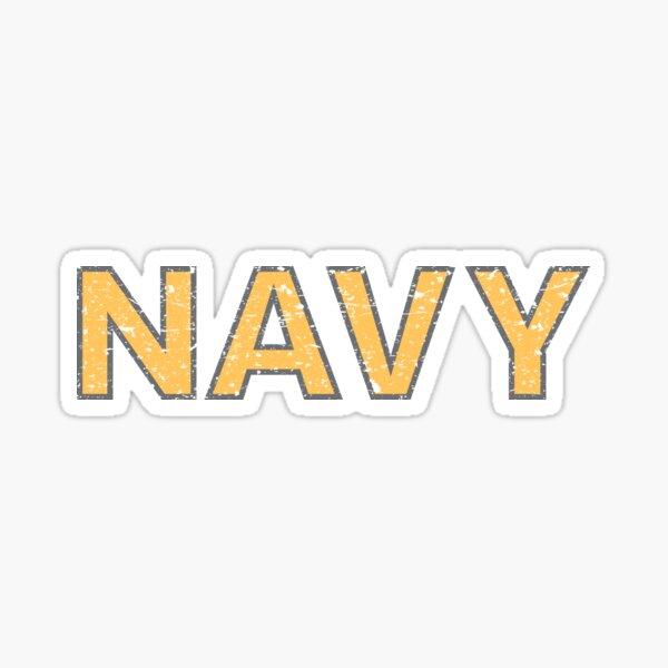 Distressed NAVY  Sticker