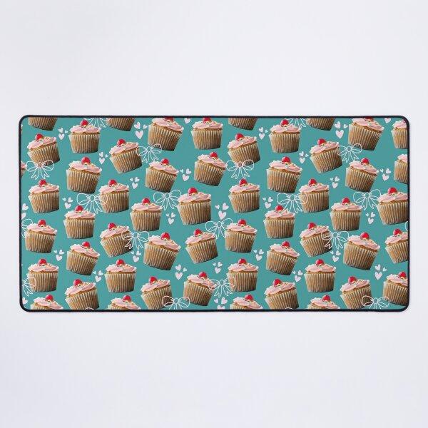 Cherry cupcake pattern ~ Baking Addiction Collection Desk Mat