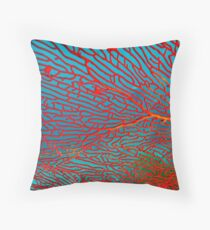 Red Fan Swaying Throw Pillow