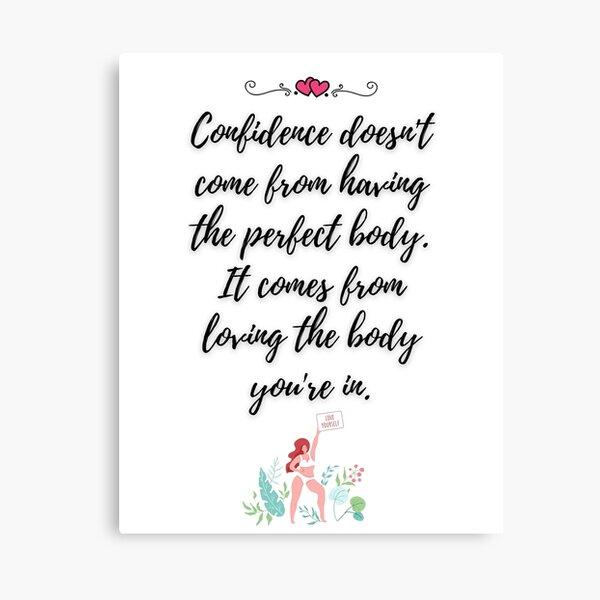 Body Confidence Quote Canvas Print