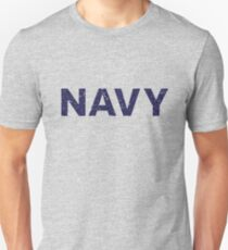 Navy distressed grey Unisex T-Shirt