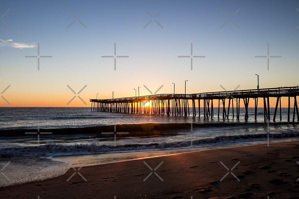 Virginia beach fishing pier morning by sherry v smith for Fishing piers in va
