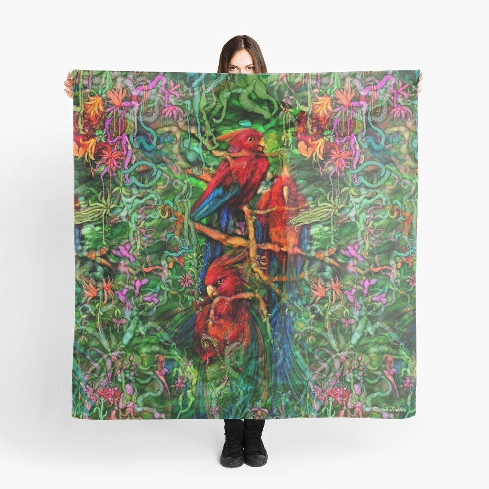 Qualia's Parrots Repeating Scarf